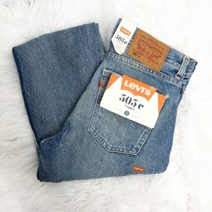 Levi's- 505C Cropped Jeans - Size 27